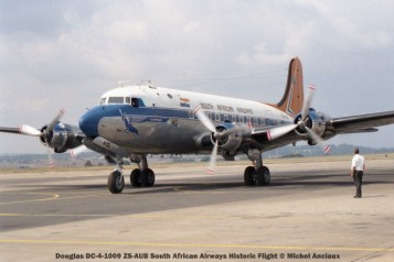 img1455 Douglas DC-4-1009 ZS-AUB South African Airways Historic Flight © Michel Anciaux