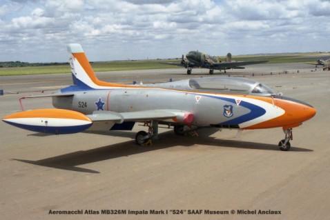 img1758 Aeromacchi Atlas MB326M Impala Mark I ''524'' SAAF Museum © Michel Anciaux