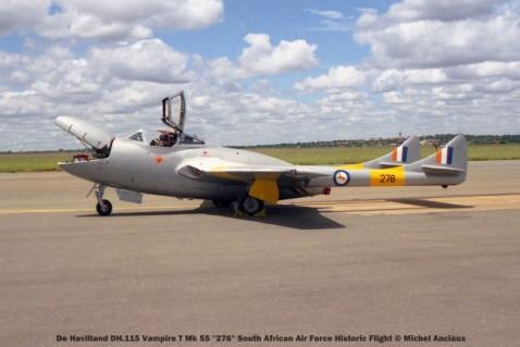 img1759 De Havilland DH.115 Vampire T Mk 55 ''276'' South African Air Force Historic Flight © Michel Anciaux