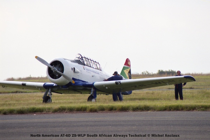 img1829 North American AT-6D ZS-WLP South African Airways Technical © Michel Anciaux