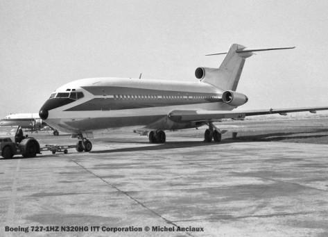 img464 Boeing 727-1HZ N320HG ITT Corporation © Michel Anciaux