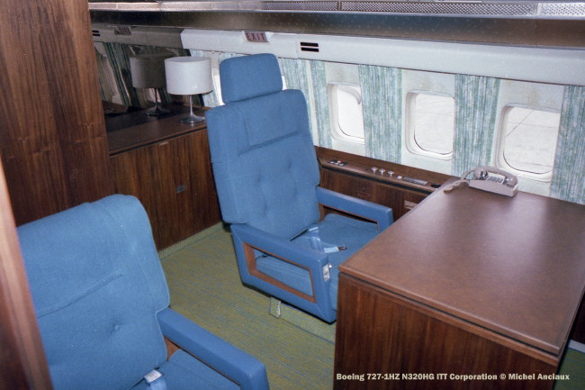 img469 Boeing 727-1HZ N320HG ITT Corporation © Michel Anciaux