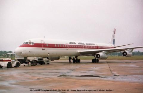 img535 McDonnell Douglas DC-8-63 ZP-CCH LAP Lineas Aereas Paraguayas © Michel Anciaux