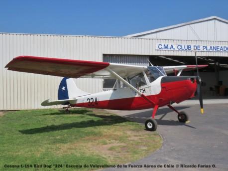IMG_0340 Cessna L-19A Bird Dog ''324'' Escuela de Volovelismo de la Fuerza Aérea de Chile © Ricardo Farías O.