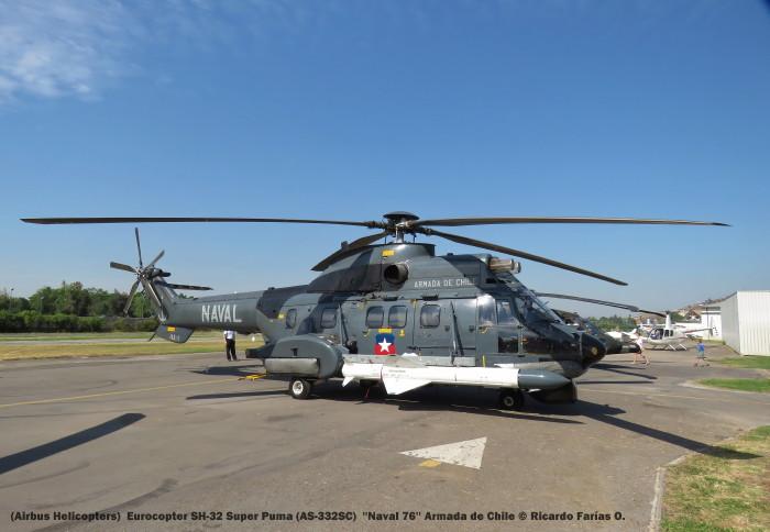 Open Day - 37 (Airbus Helicopters) Eurocopter SH-32 Super Puma (AS-332SC) ''Naval 76'' Armada de Chile © Ricardo Farías O.