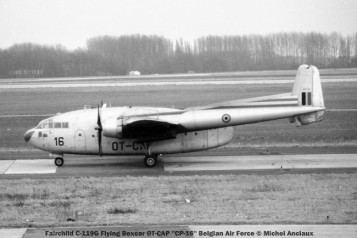001 fairchild c-119g flying boxcar ot-cap ''cp-16'' belgian air force © michel anciaux