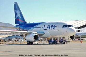 005 Airbus A318-121 CC-CVV LAN Airlines © Michel Anciaux