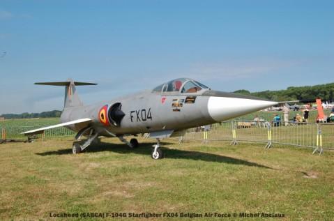 032 lockheed (sabca) f-104g starfighter fx04 belgian air force © michel anciaux