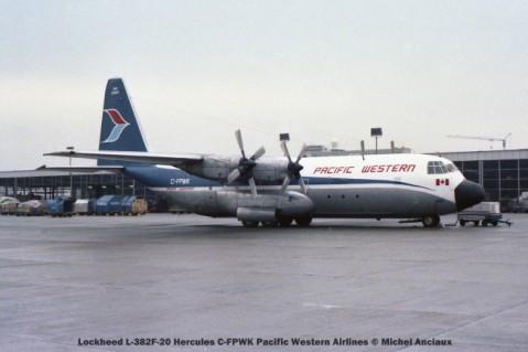 171 lockheed l-382f-20 hercules c-fpwk pacific western airlines © michel anciaux