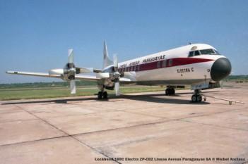 555 lockheed 188c electra zp-cbz lineas aereas paraguayas sa © michel anciaux