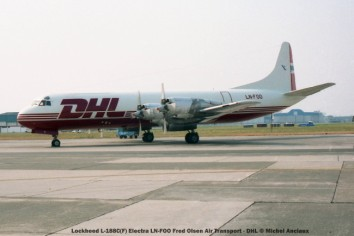 img128 lockheed l-188c(f) electra ln-foo fred olsen air transport - dhl © michel anciaux
