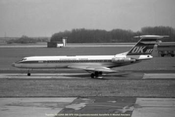 img165 tupolev tu-134a ok-cfd csa ceskoslovenské aerolinie © michel anciaux