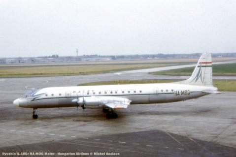 img408 ilyushin il-18gr ha-mog malev - hungarian airlines © michel anciaux
