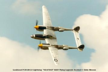 n°2 lockheed p-38-20-lo lightning ''42-67543'' n25y flying legends duxford © eddy minnen