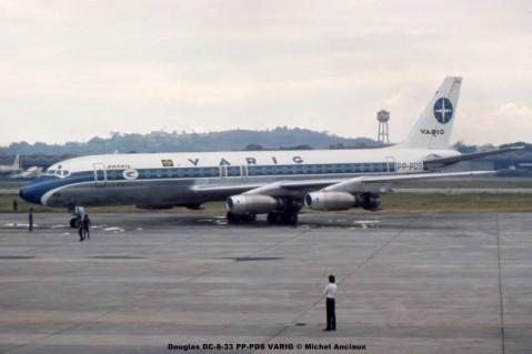 001 Douglas DC-8-33 PP-PDS VARIG © Michel Anciaux