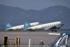 039 Douglas DC-3A-414A PP-CBT & Douglas C-47-DL PP-CED Cruzeiro do Sul © Michel Anciaux