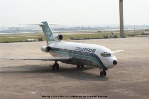 058 Boeing 727-C3 PP-CJE Cruzeiro do Sul © Michel Anciaux