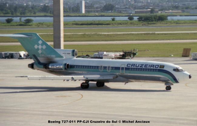 061 Boeing 727-011 PP-CJI Cruzeiro do Sul © Michel Anciaux