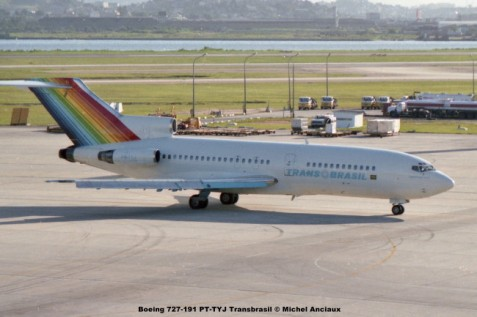 069 Boeing 727-191 PT-TYJ Transbrasil © Michel Anciaux