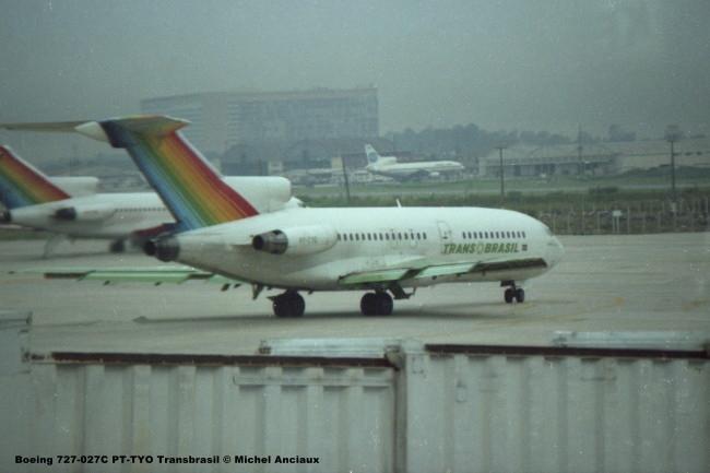 072 Boeing 727-027C PT-TYO Transbrasil © Michel Anciaux