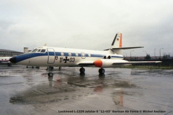 1343 Lockheed L-1329 Jetstar 6 ''11+03'' German Air Force © Michel Anciaux