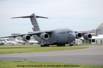 135 Boeing C-17A Globmaster III 93-0604 USAF