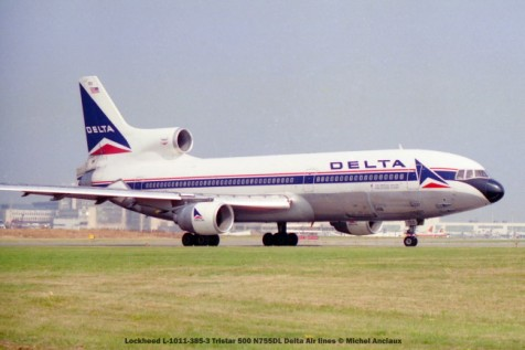 542 Lockheed L-1011-385-3 Tristar 500 N755DL Delta Air lines © Michel Anciaux