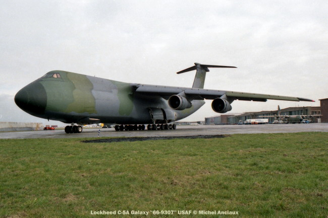 810 Lockheed C-5A Galaxy ''66-9307'' USAF © Michel Anciaux