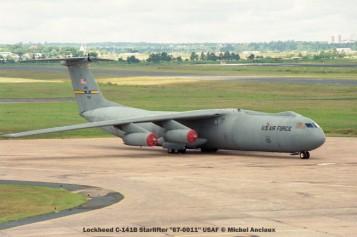 img125 Lockheed C-141B Starlifter ''67-0011'' USAF © Michel Anciaux
