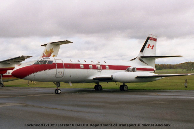 img662 Lockheed L-1329 Jetstar 6 C-FDTX Department of Transport © Michel Anciaux