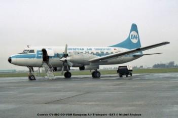 181 Convair CV-580 OO-VGH European Air Transport - EAT © Michel Anciaux