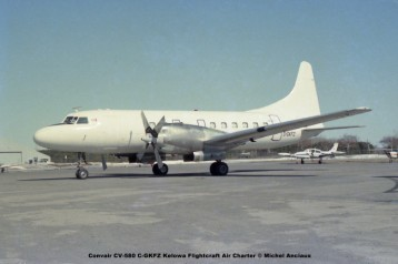 185 Convair CV-580 C-GKFZ Kelowa Flightcraft Air Charter © Michel Anciaux