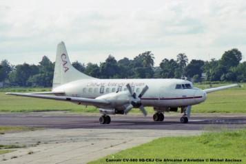 186 Convair CV-580 9Q-CEJ Cie Africaine d'Aviation © Michel Anciaux