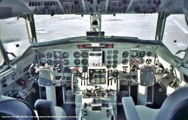 187 Convair CV-580 9Q-CEJ Cie Africaine d'Aviation © Michel Anciaux