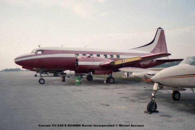 610 Convair CV-240-9 N240BN Kavair Incorporated © Michel Anciaux
