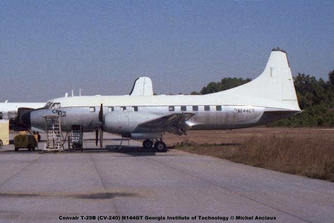 625 Convair T-29B (CV-240) N144GT Georgia Institute of Technology © Michel Anciaux