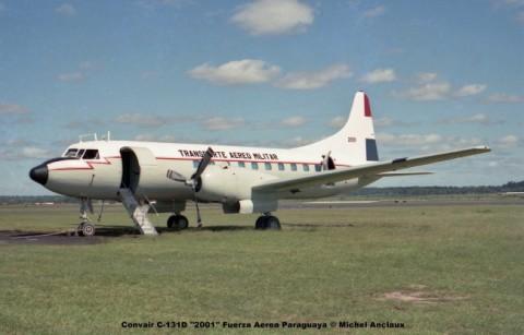 627 Convair C-131D ''2001'' Fuerza Aerea Paraguaya © Michel Anciaux