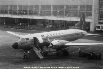 640 Convair CV-440-12 Metropolitan OO-SCN SABENA © Michel Anciaux
