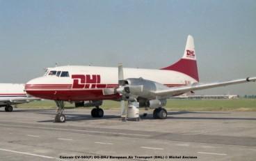 641 Convair CV-580(F) OO-DHJ European Air Transport (DHL) © Michel Anciaux