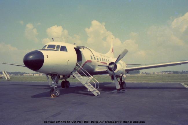 642 Convair CV-440-61 OO-VGT DAT Delta Air Transport © Michel Anciaux