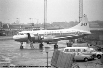 643 Convair CV-440-4 LN-KLF SAS Scandinavian © Alain Anciaux