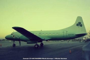 644 Convair CV-440-31 N440WA World Airways © Michel Anciaux