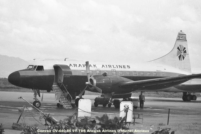 645 Convair CV-440-86 9Y-TDS Arawak Airlines © Michel Anciaux