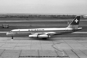 645 Convair CV-990-30A-6 Coronado HB-ICG Swissair © Michel Anciaux