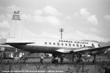 646 Convair CV-440-59 9Y-TDX Arawak Airlines © Michel Anciaux