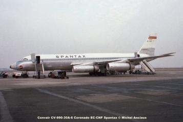 649 Convair CV-990-30A-6 Coronado EC-CNF Spantax © Michel Anciaux