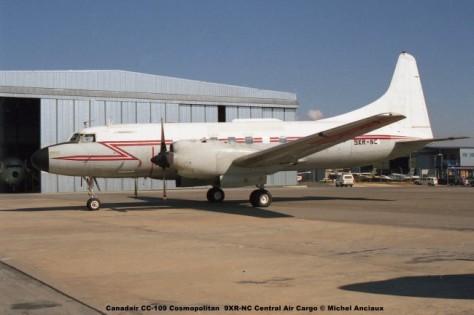 650 Canadair CC-109 Cosmopolitan 9XR-NC Central Air Cargo © Michel Anciaux