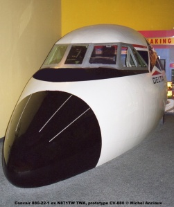 652 Convair 880-22-1 ex N871TW TWA, prototype CV-880 © Michel Anciaux