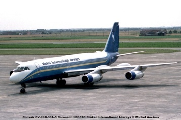 657 Convair CV-990-30A-5 Coronado N8357C Ciskei International Airways © Michel Anciaux