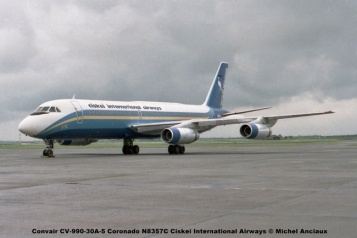 660 Convair CV-990-30A-5 Coronado N8357C Ciskei International Airways © Michel Anciaux